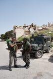 爆破房子以色列人战士 库存照片