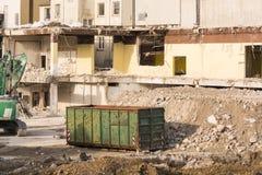 爆破位置的挖掘机 免版税图库摄影