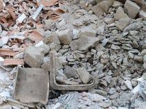 从爆破的瓦砾 库存照片
