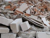 从爆破的瓦砾 免版税库存照片