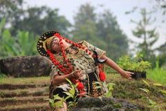 爪哇井里汶舞蹈 库存照片