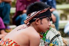 爪哇传统舞蹈家,印度尼西亚 免版税库存照片