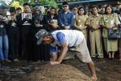 爪哇回教FUNIERAL 免版税库存图片