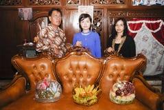 爪哇婚前传统 库存照片