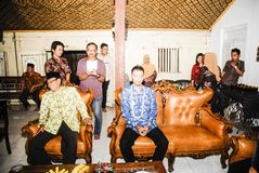 爪哇婚前传统 免版税库存图片