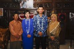 爪哇婚前传统 免版税图库摄影