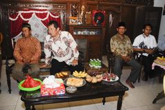 爪哇婚前传统 库存图片