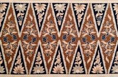 爪哇蜡染布样式 库存照片