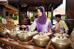 爪哇gamelan在马来西亚 库存图片