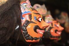 爪哇tradiional面具 免版税图库摄影