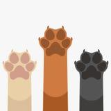 爪子上升宠物 向量例证