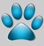 爪子打印形状的介绍或选项模板 免版税库存照片