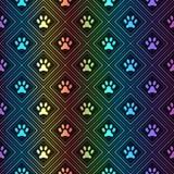 爪子脚印的无缝的动物光谱样式 免版税图库摄影