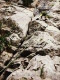 爬上的登山人 免版税库存照片