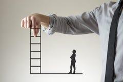 爬对成功的公司梯子 库存图片