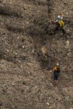 爬山者 库存图片