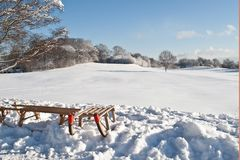 爬犁冬天 库存图片