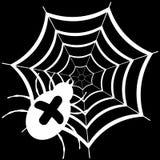 爬行在网的蜘蛛 库存图片