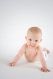 爬行的婴孩 免版税图库摄影