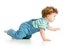 爬行的男婴 图库摄影