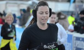 爱丁堡乐趣赛跑者苏格兰 免版税库存照片