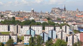 爱丁堡全景 库存照片