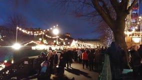 爱丁堡圣诞节市场 库存图片