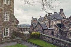 爱丁堡在爱丁堡城堡,爱丁堡市,苏格兰,英国的受欢迎的旅游胜地里面的城堡医院老大厦  库存照片