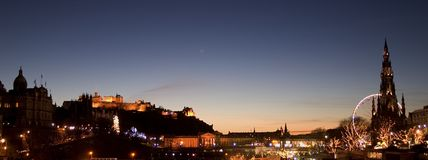 爱丁堡地平线 库存照片