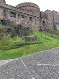 爱丁堡城堡堤防 库存图片