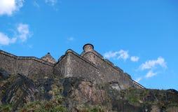 爱丁堡城堡墙壁 库存照片