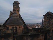 从爱丁堡城堡屋顶,苏格兰 免版税图库摄影