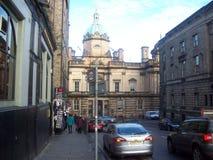 爱丁堡城市的历史游览看见历史大厦 免版税库存图片