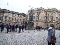 爱丁堡城市的历史游览看见历史大厦 图库摄影
