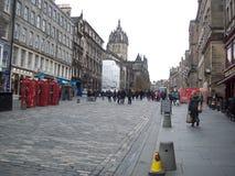 爱丁堡城市的历史游览看见历史大厦 库存图片