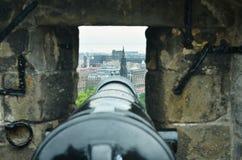 爱丁堡大炮  库存图片