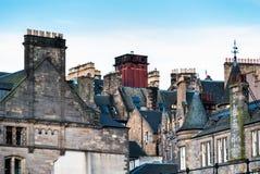 爱丁堡屋顶  库存图片