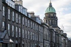 爱丁堡市古镇建筑学Fassade教会 图库摄影