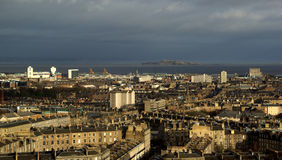 爱丁堡市视图 免版税图库摄影
