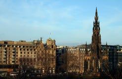 爱丁堡王子街道 库存照片