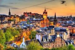 爱丁堡的市中心的看法 库存图片