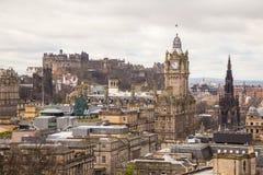 爱丁堡看法从Calton小山的 免版税库存照片