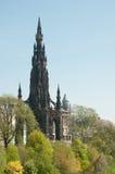爱丁堡纪念碑斯科特王子街道 免版税库存图片