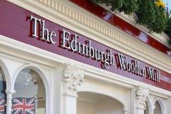 爱丁堡羊毛磨房的界面 免版税图库摄影