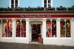 爱丁堡羊毛磨房 库存图片