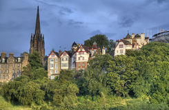 爱丁堡老市 免版税库存图片