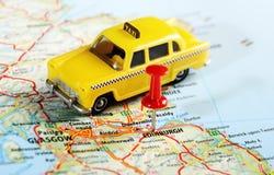 爱丁堡苏格兰出租汽车地图 图库摄影