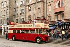 爱丁堡苏格兰- 8月29日:城市(皇家英里) 2013年8月30的爱丁堡风景日在爱丁堡苏格兰 免版税库存图片