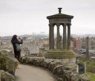 爱丁堡视图从Calton小山01的 库存照片
