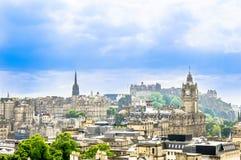 爱丁堡都市风景-苏格兰的首都 免版税库存照片